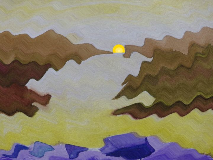 Landschaft_87a2_Welle+GelbeSonne_kl