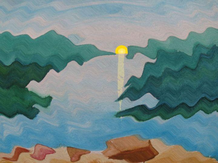 Landschaft_87a2_Welle+Sonne_kl
