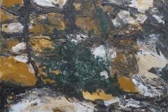 Friedhelm Farin, Ocker 1, 08/2018, Acryl auf Leinwand, 50 cm x 40 cm