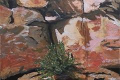 Friedhelm Farin, Ocker 3, 09/2018, Acryl auf Leinwand, 50 cm x 40 cm